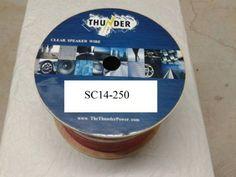 Avox SC14250 Clear Speaker Wire, 250-Feet