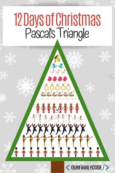Figure out how many gifts are given in the 12 Days of Christmas with Pascal's Triangle and complete a Christmas tetrahedron STEM challenge. Christmas Arts And Crafts, Christmas Math, Christmas Activities For Kids, Spring Activities, 12 Days Of Christmas, Craft Activities For Kids, Preschool Crafts, Math Activities, Christmas Ideas