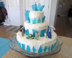"""Lucy's Frozen Cake - I have never made hard candy before so the """"ice..."""