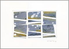 "ersi marina samara Watercolour collage on embossed Hahnemühle bamboo paper32 x 24 cms - 12.6"" x 9.5""Collage de acuarela sobre papel de bambú Hahnemühle gofrado32 x 24 cms"