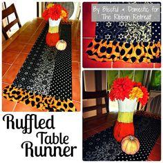 Ruffled Table Runner Tutorial (HALLOWEEN) - {The Ribbon Retreat Blog}