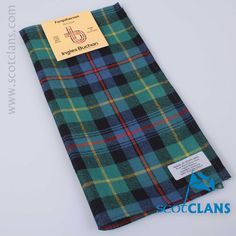 wool pocket square in Farquharson Ancient tartan - from ScotClans