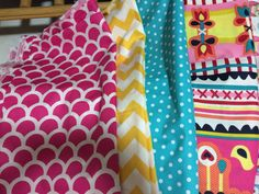 Fabric for nursery .. White walls, furniture etc with colour pops