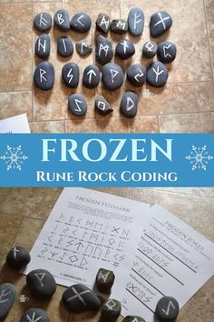 This Futhark runic alphabet Frozen coding activity is a great hands-on activity to decipher some secret messages!! #FrozenSTEAM #DisneyFrozen #STEAMkids #STEM #education #homeschool #wintersteam #frozenactivities Frozen Activities, Educational Activities For Kids, Letter Activities, Spring Activities, Hands On Activities, Learning Activities, Easy Crafts For Kids, Toddler Crafts, Preschool Crafts