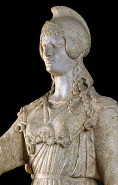 Musée Ste-Croix de Poitiers: Statue d'Athéna (détail), copie romaine (1° ou…