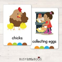 On the Farm Flash Cards AUTOMATIC DOWNLOAD by BusyLittleBugsShop