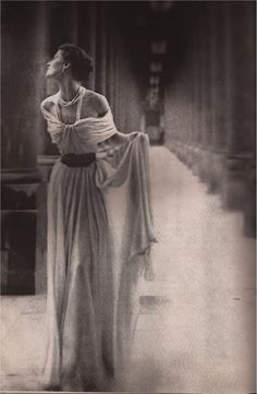 Piguet  Lillian Bassman - I love everything about this dress, jeeze it has swag. hahaha Easy & draped :) also love the neckline/shoulders