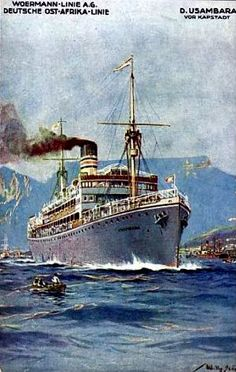 East Africa Woermann Line SS Usambara 1922