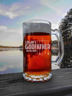 Godparent Gift, Personalized Godfather Gift, 16oz Beer Mug, Will You Be My Godfather Gift, Baptism Gift, For The Godfather, Godparents Godparent Gifts, Baptism Gifts, Personalized Gifts, Godfather Gifts, The Godfather, Gifts For Brother, Gifts For Husband, Beard Gifts, Best Dad Gifts