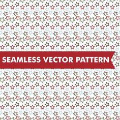 Christmas Stars Seamless Vector. Christmas Patterns. $5.00