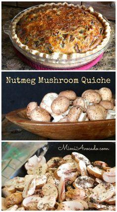 Nutmeg Mushrooms Baked Into Quiche and a Mushroom Farm Tour ~ http://mimiavocado.com