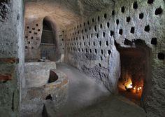 Orvieto, Italy - Underground City, Pigeon holes