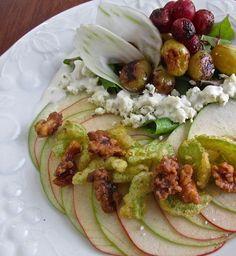 Crestview Waldorf Salad with Seared Grapes & Crispy Celery  #WaldorfSaladRefresh @CAWalnuts