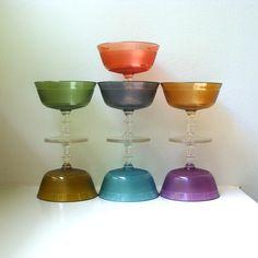 Mod Champagne Dessert Glasses Sorbet Mid Century Modern Acrylic Stemware. $15.00, via Etsy.