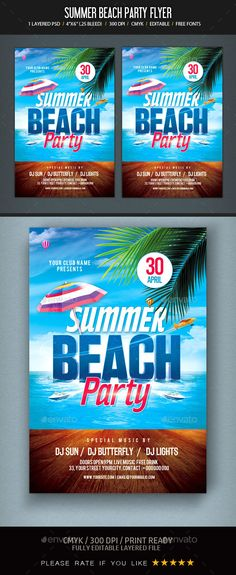 Pool Party Flyer Template Party flyer, Flyer template and Flyer - pool party flyer template