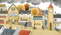 The website of Children's Illustrator Emma Allen, including a portfolio of quality illustrations for children, plus information about Emma and how to get in touch. Building Illustration, Children's Book Illustration, Graphic Design Illustration, Emma Allen, Street Pictures, Whimsical Art, Childrens Books, Illustrators, Artsy