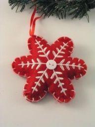 Cute!!! snowflake felt ornament