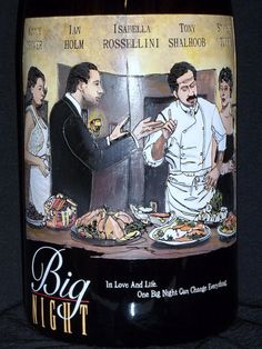 This 5 Liter wine bottle was created for an Auction for Kosta Browne Winery. It's the poster art for Big Night.