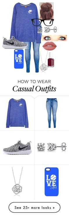 Casual by dancesoftball on Polyvore featuring City Chic, NIKE, BERRICLE, Lime…