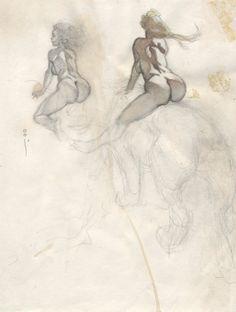 Resultado de imagen de frank frazetta Black and white Frank Frazetta, Science Fiction, Audrey Kawasaki, Fantastic Art, Comic Books Art, Erotic Art, Figure Drawing, Art Sketches, Sketch 2