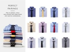 Country Road-Perfect Pairings | Play on pattern, colour and contrast with these stylish shirt and tie combinations.