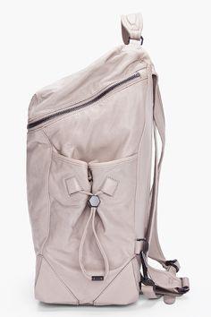 ALEXANDER WANG Grey Leather Wallie Backpack