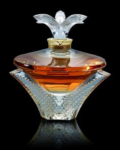 Lalique Parfum Cascade I love my vanity where I keep my collections of gorgeous bottles..this is so stunning Xo LF
