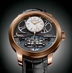 TimeZone : Industry News » Basel 2014 - Girard-Perregaux Constant Escapement L.M. Rose Gold