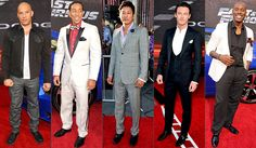 Fast and Furious 6 Premiere Party (l-r)  Vin Diesel, Chris 'Ludacris' Bridges, Sung Kang, Luke Evans, and Tyrese Gibson.