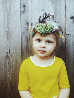 My Quinoa would totally love to wear succulents in her hair!