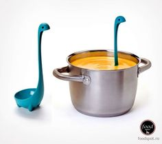 Loch Ness Monster Ladle Look out! What's that in your pot? It's everyone's favourite non existent lake monster Nessy. This ladle is guaranteed to be the cutest spoon in your kitchen drawer, a replica of the imaginary Scottish icon the loch ness monster. Cool Kitchen Gadgets, Kitchen Tools, Cool Kitchens, Kitchen Dining, Kitchen Products, Kitchen Utensils, Kitchen Items, Kitchen Stuff, Kitchen Spoon
