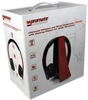 Promate Revolt Universal Wireless and Wired Headphones with Docking Station for Audio Streaming,High quality stereo sound that is virtually interference-free,distance up to 50 meters Dj Speakers, Computer Hardware, Docking Station, Listening To Music, Good Music, Laptops, Distance, Computers, Headphones