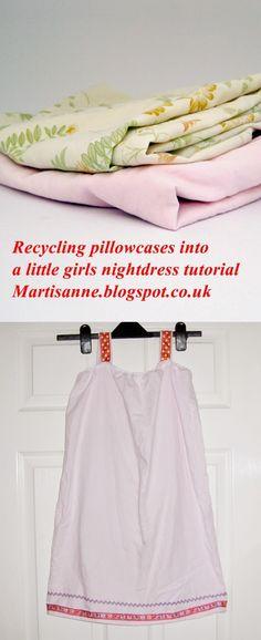 Pillowcase Tutorial Uk: Sewing a girls pillowcase nightdress without elastic tutorial    ,