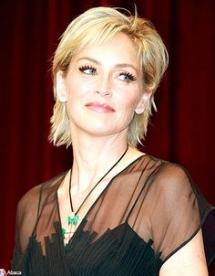 Sharon Stone Hairstyle hair styles Pinterest Hair