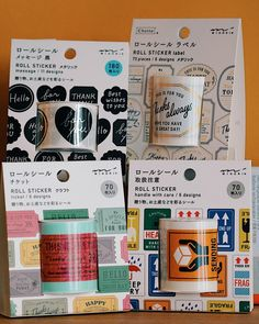 """STICKERRIFIC's Instagram photo: """"@midori_designphil Roll Stickers are a delight to use for parcel packing, gifting and mail! These stickers are also 15% off until tomorrow…"""" Tape, Rolls, Packing, Messages, Stickers, Gifts, Instagram, Design, Bag Packaging"""