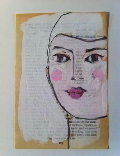 pretty pink art on a book sheet