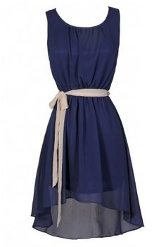 Lily Boutique - Simpler Times High Low Contrast Sash Dress $30