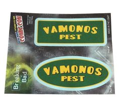 Breaking bad vamonos pest #comic con exclusive 2 #window sticker car #decal,  View more on the LINK: 	http://www.zeppy.io/product/gb/2/111614113767/