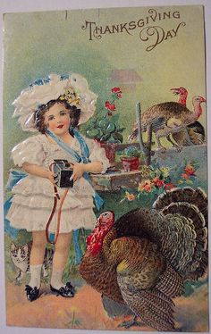Vintage Thanksgiving Day Postcard by riptheskull, via Flickr