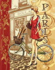 We specialize in publishing open-edition decorative art prints for the home furnishings and gift markets. We're a wholesale business with distribution of our art to numerous retail store chains, catalog/mail order companies, and independent shops. Vintage Paris, Vintage Retro, Illustration Parisienne, Illustration Art, Vintage Images, Vintage Posters, Foto Transfer, I Love Paris, Paris Girl