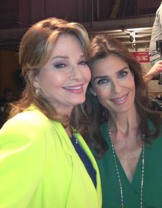 Deidre Hall and Kristian Alfonso on the #DAYS set!