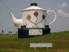 W Chester Bypass world's largest teapot from the State 6 Bypass. Though Chester, West ...