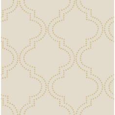 A-Street 56 sq. ft. Tetra Beige Quatrefoil Wallpaper-2625-21805 - The Home Depot