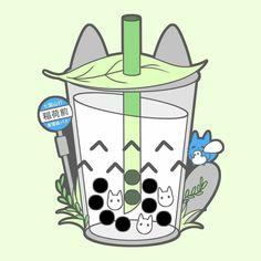 Tea Wallpaper, Cute Pastel Wallpaper, Kawaii Wallpaper, Cute Food Drawings, Cute Kawaii Drawings, Kawaii Art, Studio Ghibli Characters, Bubble Tea Shop, Studio Ghibli Art