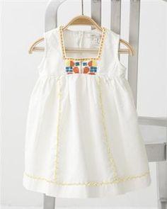 CROSS-STITCH BABY DRESS by CARAMEL BABY