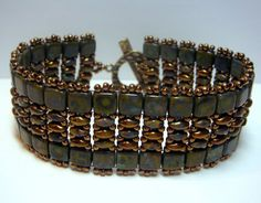 SuperDuo Twin Bead Stack Bracelet by ReggiesCreations on Etsy, $25.00