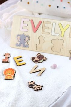 Christening Gift for Girls by WoodilyToys. Baptism Baby Present - Gift For Goddaughter - Baby Dedication Gift - Wooden Name Puzzle. Our Personalized custom name puzzles are designed to fuel imagination, inspire exploration and encourage the natural curiosity that leads to a lifetime of learning. Christmas toddler, Christmas 1 year old, Personalized Christmas baby gift #babytoy #kidstoy