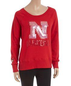 Look at this #zulilyfind! Nebraska Cornhuskers Scoop Neck Pullover - Women #zulilyfinds