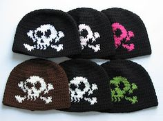 KNIT Pattern for Skull Crossbones cap - Pattern available for FREE on  Ravelry (Free crafting cf41ccd1b55