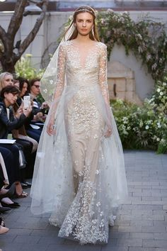 db877ba64c2 Monique Lhuillier 2017 wedding dress collection - Brides reviews collection  from New York Bridal Fashion Week